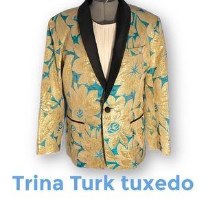 Trina Turk custom sized tuxedo jacket size 14-16